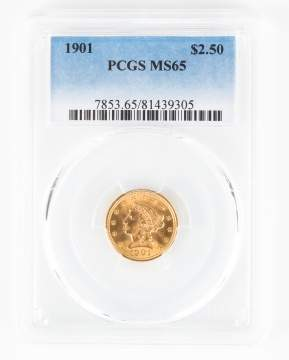 1901 Liberty Gold Two and a Half Dollar Coin