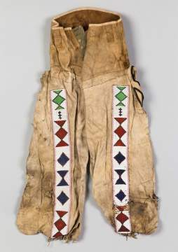 Native American Beaded Buckskin Pants
