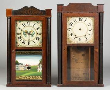 Unusual Alford & Co. Column and Splat Shelf Clock