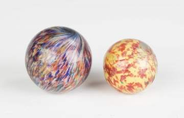 Two Vintage End of Day Marbles