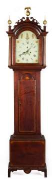 New England Chippendale Tall Case Clock