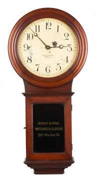 Riggs & Bro. Wall Regulator, Philadelphia, Made by  Chelsea Clock Co.