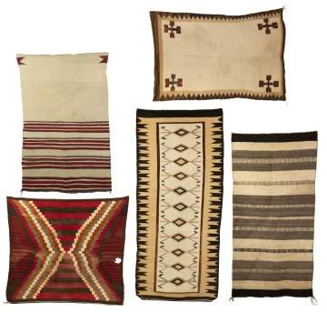 Five Vintage Navajo Weavings