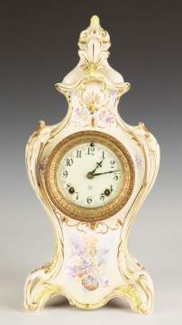 Ansonia Royal Bonn China Shelf Clock