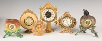 Group of Various Shelf Clocks