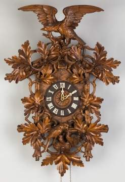 Carved Black Forrest Cuckoo Clock