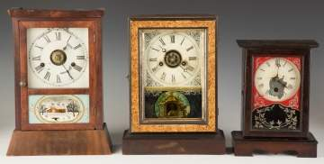 Three New England Cottage Clocks