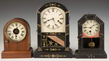 Three Victorian Shelf Clocks
