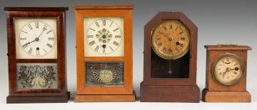 Four Miniature Cottage Clocks