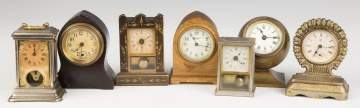 Group of Vintage Miniature Novelty Clocks