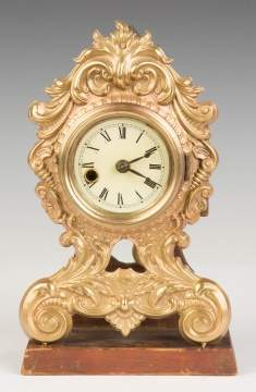 Stamped Brass Shelf Clock