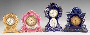 Four Miniature Shelf Clocks