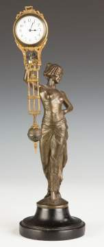 Junghans Swinging Clock with Woman