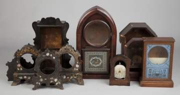 Group of Shelf Clock Cases