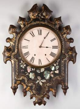 Gothic Style Cast Iron Front Wall Clock