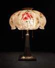 Pairpoint Reverse Painted Rose Lamp