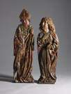 18th Century Carved & Painted Figures