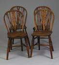 4 European Oak Hoopback Chairs