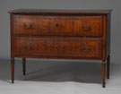 18th Century Italian Inlaid 2 Drawer Chest