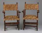 2 Similar Early English Arm Chairs