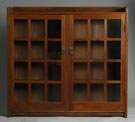 Gustav Stickley Double Door Oak Bookcase
