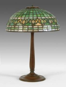 Tiffany Studios Pomegranate Bronze & Leaded Lamp