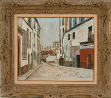 "Maurice Utrillo (French, 1883-1955) ""Impasse Trainee A Montmartre"""