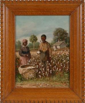William Aiken Walker (American, 1839-1921) Two Cotton Pickers in Field.