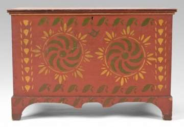 Rare Paint Decorated Blanket Chest
