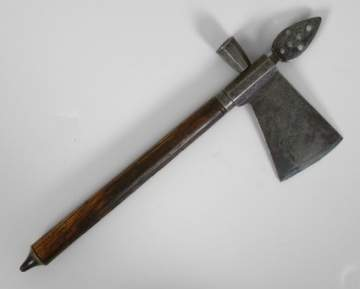 Rare Iron & Wood Pipe Tomahawk