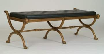 Pair of Cast Bronze Benches