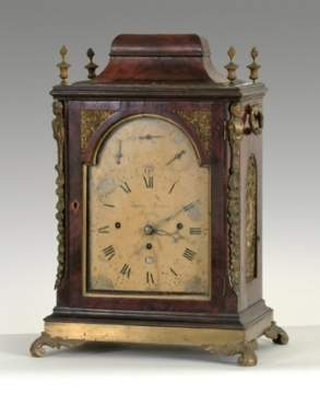 Thomas Leumas London English Musical Bracket Clock