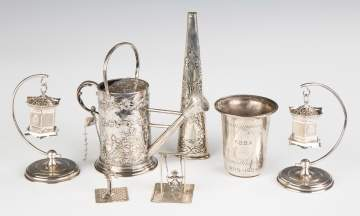 Group of Sterling Silver Novelty Items