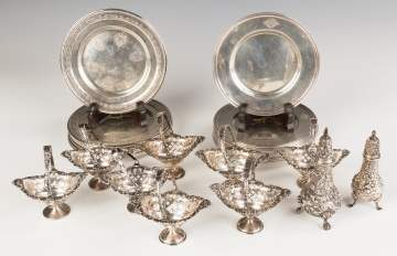 Sterling Silver Bread Plates, Nut Dishes and Salt  Shakers