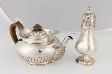 Sterling Silver Tea Pot and Castor