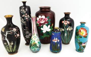 A Group of Japanese Cloisonné Vases