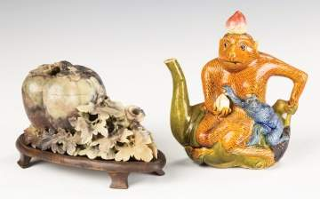 Chinese Soapstone and Teapot