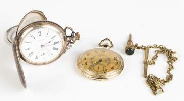 Two Pocket Watches and a Fob