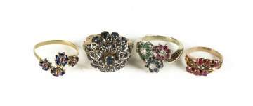 Four Vintage Rings