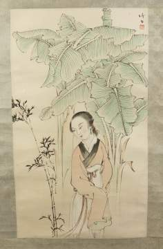 Asian Scroll of a Lady