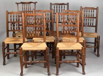 Set of Assembled Chairs, Two Arm Chairs and Six  Side