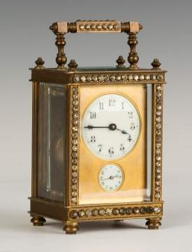 French Carriage Clock with Rhinestones