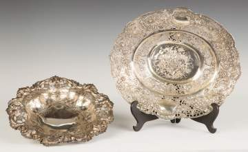Sterling Footed Bowl and 800 Silver Bowl
