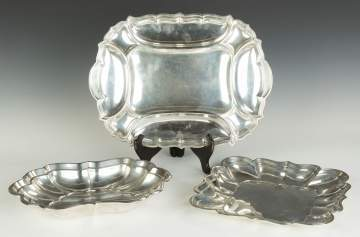 Three Sterling Silver Serving Pieces