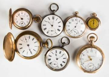 Group of Seven Pocket Watches