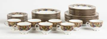 Muirfield Hand Painted Porcelain Luncheon Set