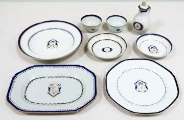Group of Chinese Export Armorial Porcelain