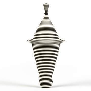 Roseline Delisle (Canadian, born 1952) Porcelain Vessel With Stripes