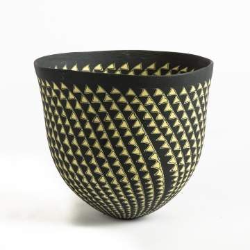 Dorothy Feibleman (American, B. 1951) Black and Yellow Bowl