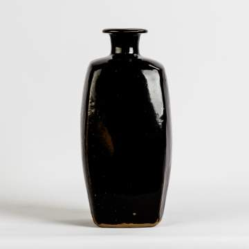 Bernard Leach (British, 1887-1979) Tall Tenmoku Bottle